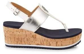 Tommy Hilfiger Gunther Cork Wedge Sandals