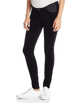 J Brand Mama J Super Skinny Velvet Maternity Jeans in Black