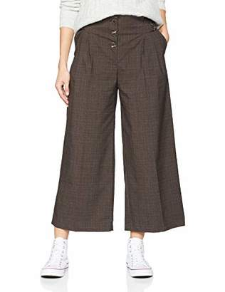New Look Women's Bailey Check Button Trousers,(Manufacturer Size:12)