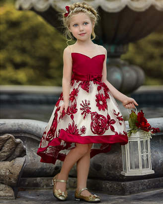 Mia Belle Girls Elegant Special Occasion Holiday Dress