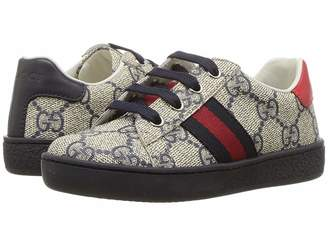 Gucci Kids GG Supreme Low-Top Sneaker (Toddler)