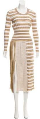 Sonia Rykiel Striped Pattern Midi Dress