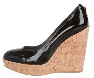 Stuart Weitzman Patent Leather Wedge Pumps