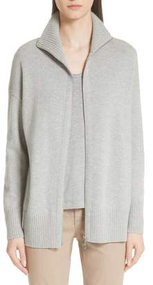 Lafayette 148 New York Luxe Merino Wool & Cashmere Sweater Jacket