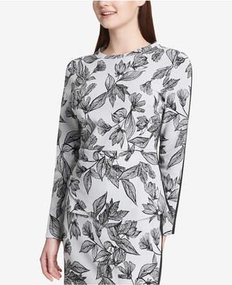 Calvin Klein Jacquard Printed Front Top