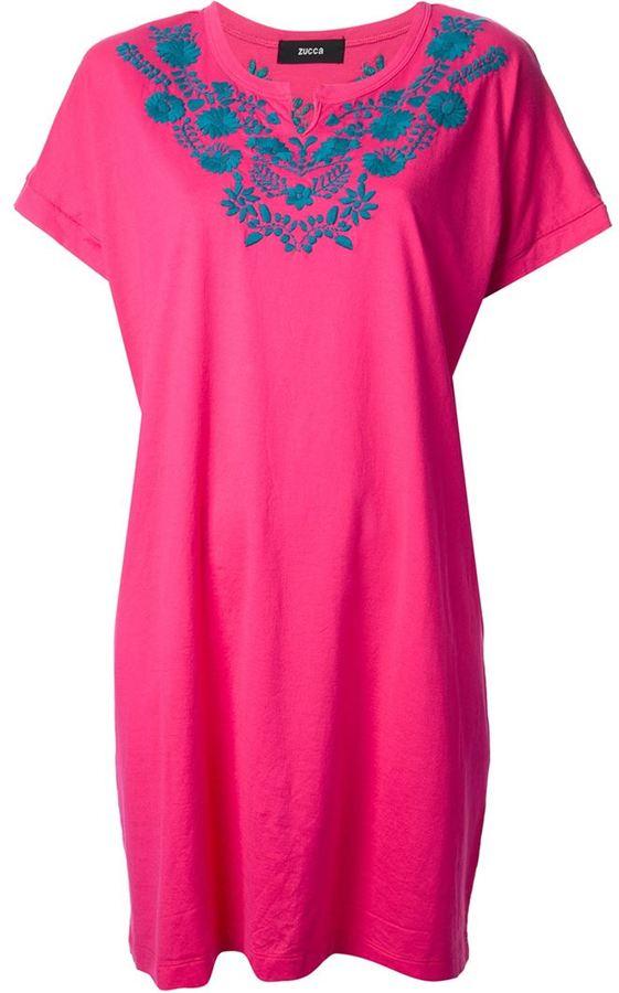 Zucca floral print jersey dress