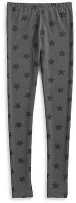 MANGUUN Glitter Star Print Melange Leggings