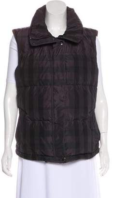 Burberry Hooded Smoke Check Down Vest