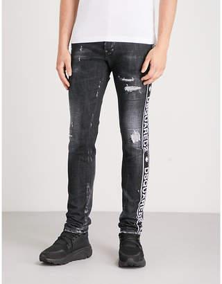 DSQUARED2 Cool Guy tape-panel stretch-denim skinny jeans