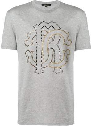 Roberto Cavalli studded heraldic logo T-shirt