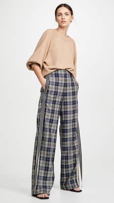 Monse Racing Stripe Vintage Plaid Pants