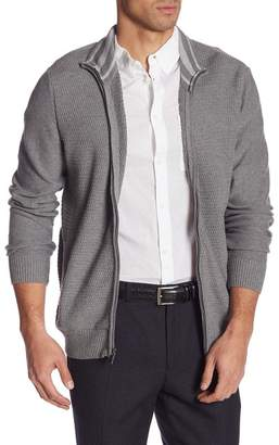 Calvin Klein Mock Neck Full Zip Sweater