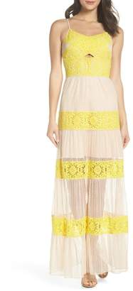 Foxiedox Mia Two-Tone Lace Gown