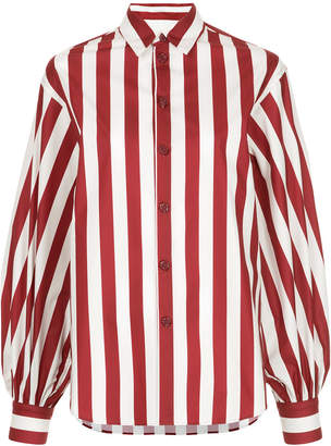 G.V.G.V. striped classic collar button front shirt