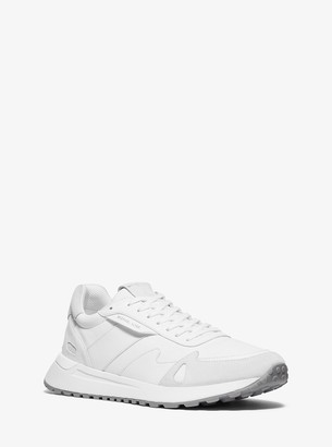Michael Kors Miles Nylon and Leather Trainer