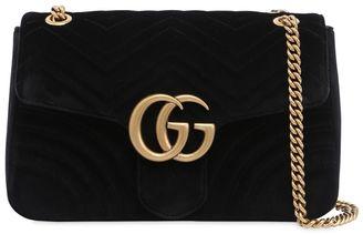 Gucci Medium Gg Marmont 2.0 Quilted Velvet Bag