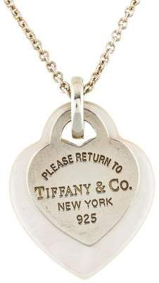 Tiffany & Co. & Co. Return to Double Heart Pendant Necklace