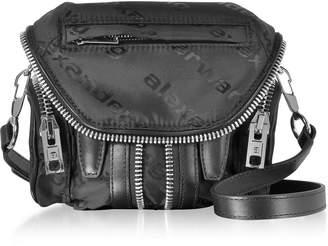 Alexander Wang Micro Marti Black Aw Jacquard Logo Shoulder Bag