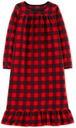 Carter's Big Girls Plaid Fleece Nightgown
