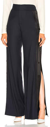Monse High Waist Wide Leg Side Snap Trouser Pant