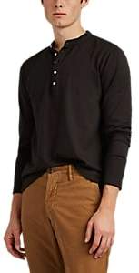 Massimo Alba Men's Cotton-Cashmere Henley - Black