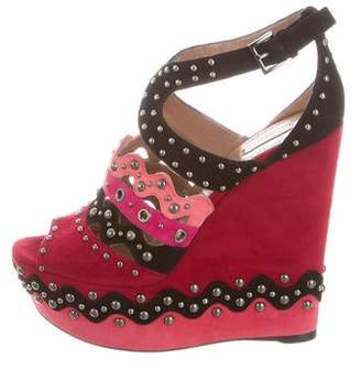 Alaia Embellished Platform Wedges w/ Tags