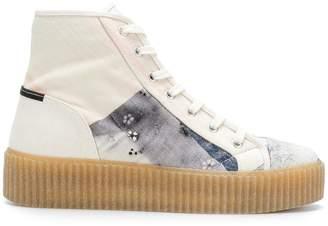 MM6 MAISON MARGIELA patch-work hi-top sneakers