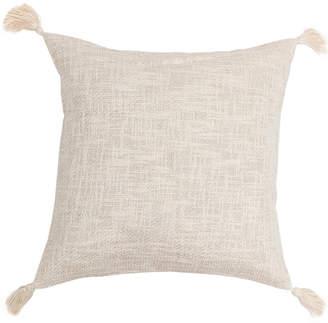 Vera Jilliana Cotton Metallic Decorative Pillow