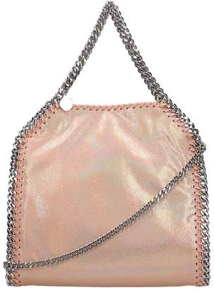80e900507d Stella McCartney Pink Glitter Faux Leather Falabella Tote Mini Bag