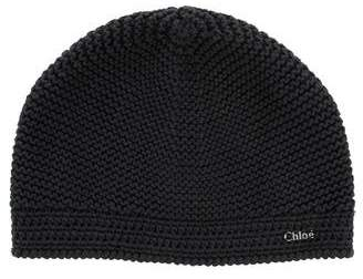 Chloé Girls' Knit Logo Hat