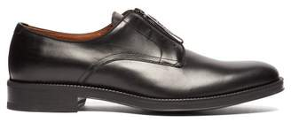 Givenchy Rider Logo Zip Leather Derby Shoes - Mens - Black