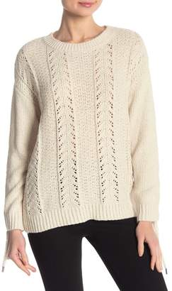 Cupcakes And Cashmere Gus Lace Up Sweater