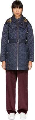 Burberry Navy Baughton Quilted Coat