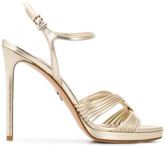 Prada crossover strap sandals