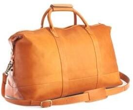 Royce New York Columbian Leather Luxury Weekender Duffel Bag