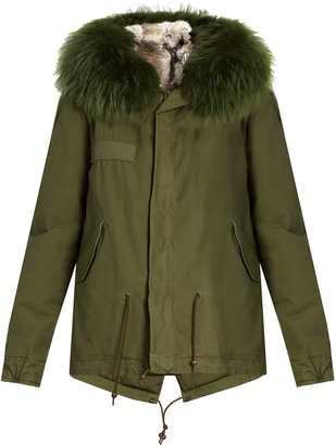 MR & MRS ITALY Fur-lined canvas mini parka $3,132 thestylecure.com