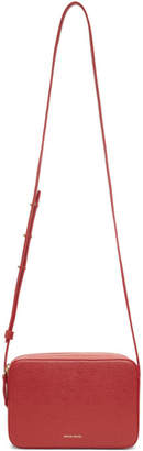Mansur Gavriel Red Double Zip Crossbody Bag