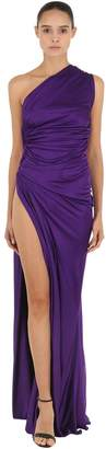 Roberto Cavalli Asymmetrical Open Side Jersey Dress