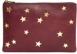 Madewell Star-Embossed Leather Pouch Clutch