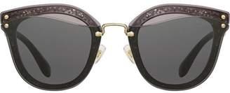 Miu Miu (ミュウミュウ) - Miu Miu Reveal glitter sunglasses