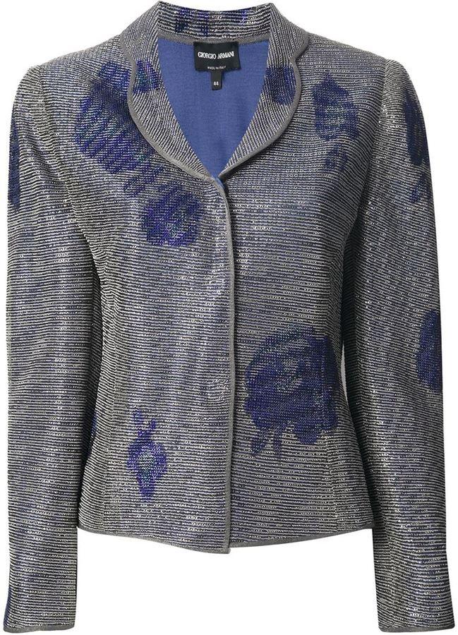 Giorgio Armani floral print blazer