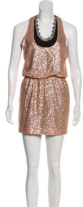 Robert Rodriguez Silk Sequin Mini Dress