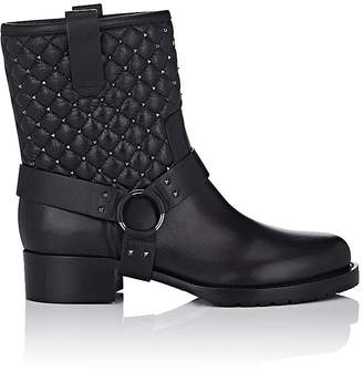 Valentino Women's Rockstud Spike Leather Biker Boots