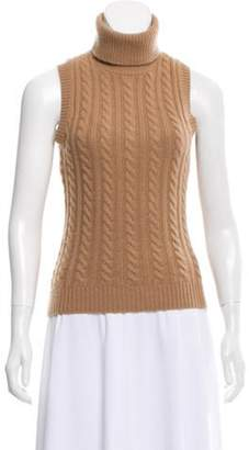 Michael Kors Cable Knit Turtleneck Sweater Tan Cable Knit Turtleneck Sweater