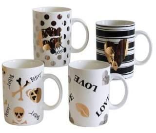 """Betsey Johnson® """"Hi-Shine"""" Mug Set (Set of 4)"""