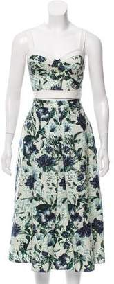 ABS by Allen Schwartz Floral Crop Top Skirt Set