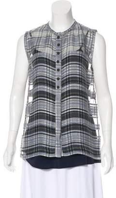 Fendi Plaid Wool-Blend Top