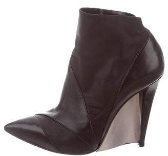 Casadei Leather Wedge Booties