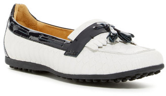 Peter Millar Snake Embossed Moccasin Flat $198.50 thestylecure.com