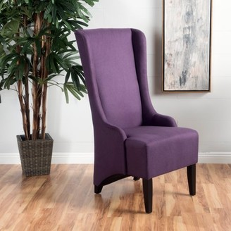 Noble House Ivette Plum Fabric Dining Chair